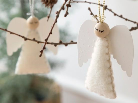 zarte engel basteln als christbaumschmuck
