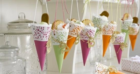 zuckertüten ausgefallene adventskalender selber basteln
