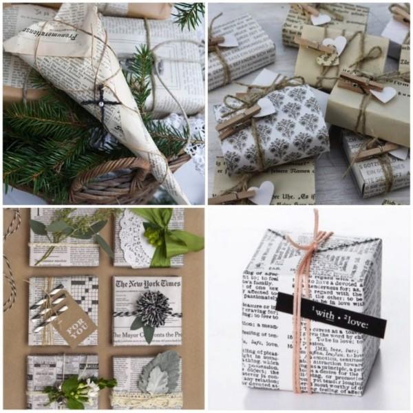 zweige und bänder geschenkpapier