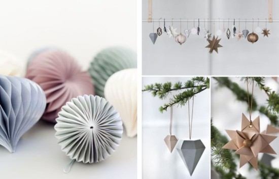 3d christbaumschmuck papier skandinavische weihnachtsdeko