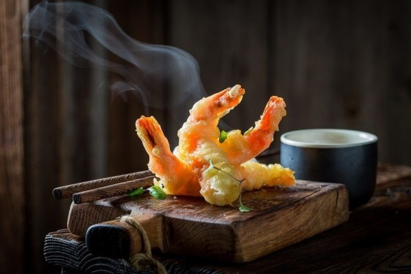 Japanisches Essen Shrimps besonders beliebt im Fernosten