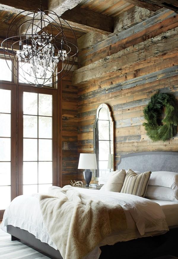 Jedes weihnachtlich dekoriertes Schlafzimmer