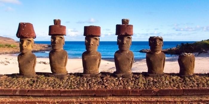 Schönste Strände der Welt Anakena Beach Chile