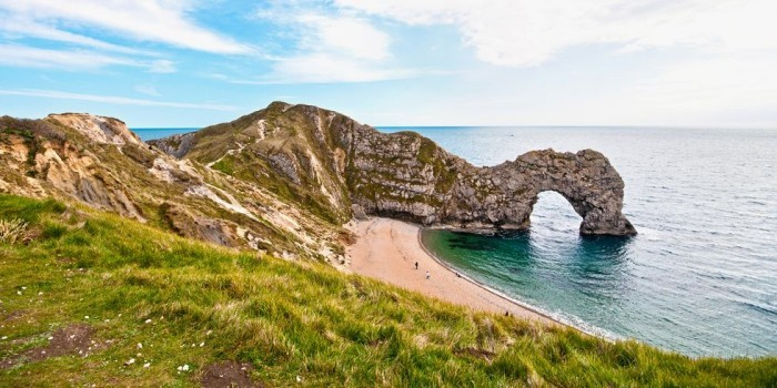 Schönste Strände der Welt Harbour Cliff Beach England