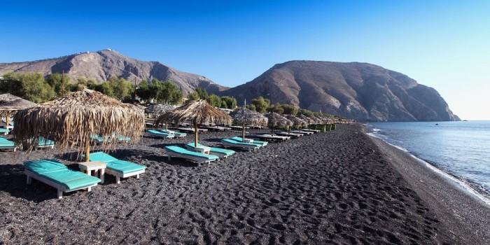 Schönste Strände der Welt Perissa Strand griechische Inseln