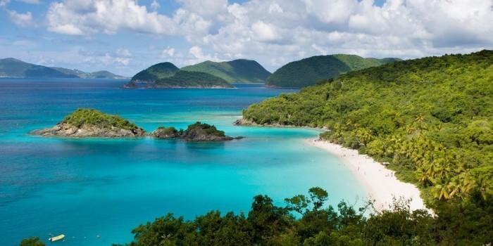 Schönste Strände der Welt Trunk Bay amerikanische Jungferninseln