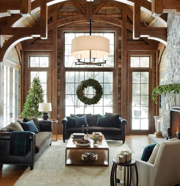 Weihnachten auf dem Lande feiern Atmosphäre im Landhausstil