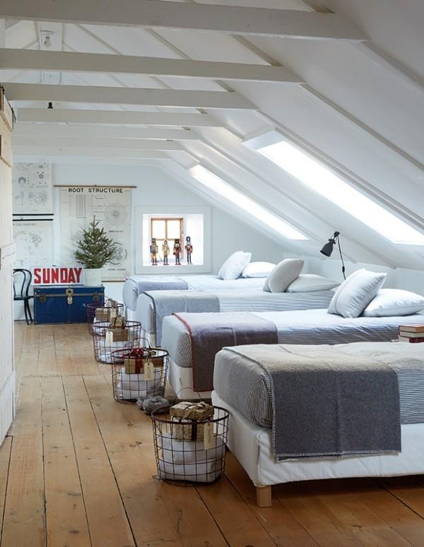 Weihnachten auf dem Lande feiern Schlafzimmer genug Platz für Gäste
