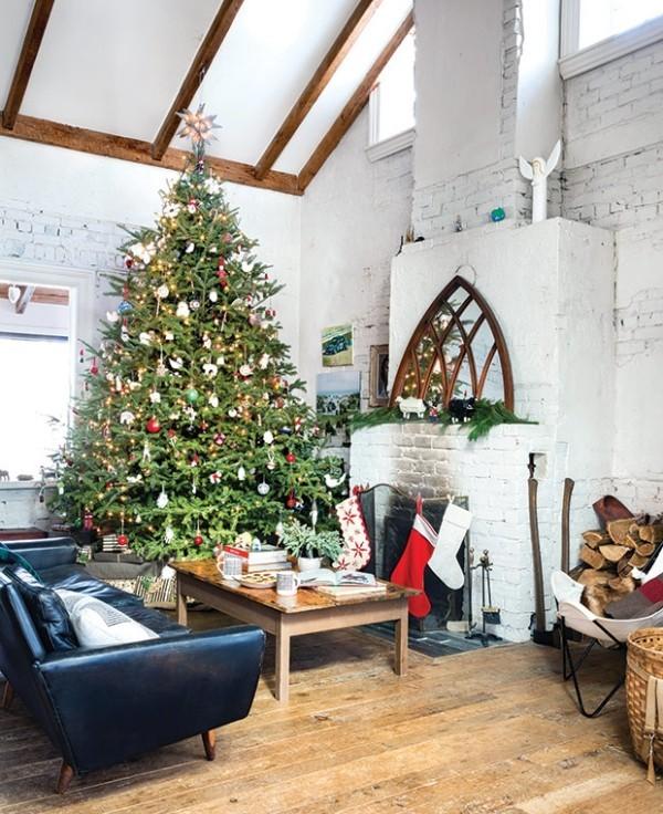 Weihnachten auf dem Lande feiern Wohnzimmer