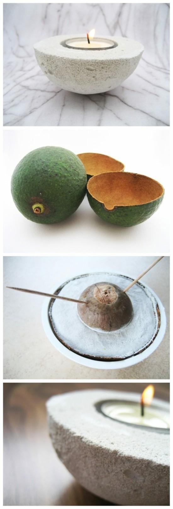 avocado windlichter basteln