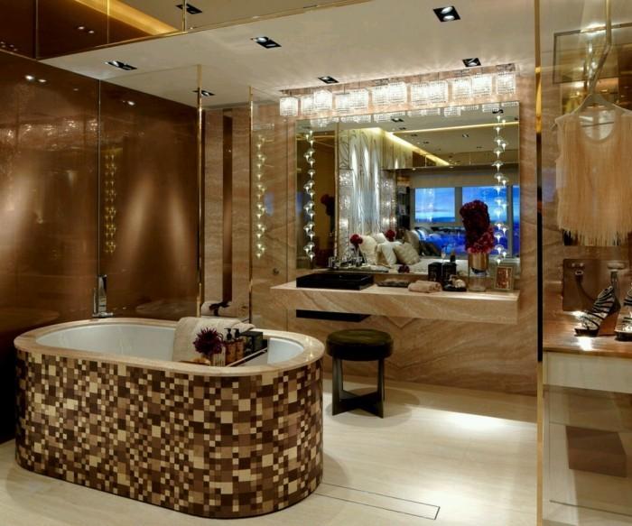 badezimmer decken mosaik muster