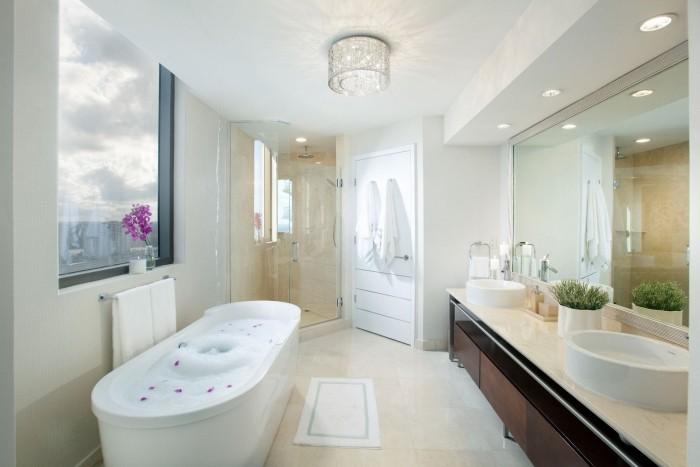 badezimmer decken runder lampenschirm
