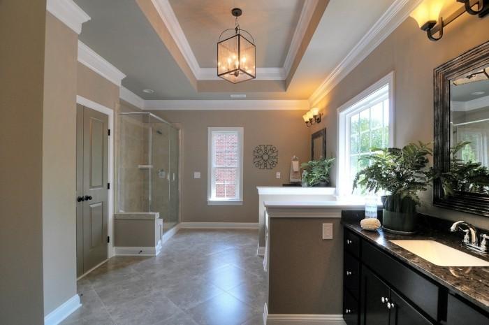 badezimmer decken wohnliche idee