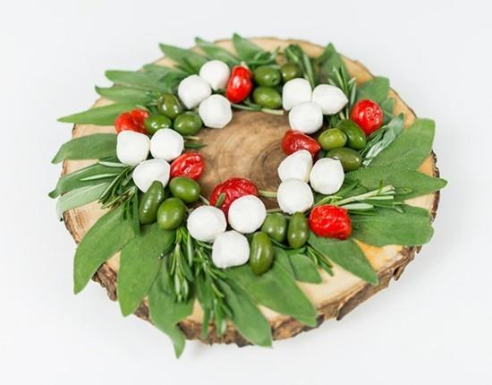 baumscheibe essbaren weihnachtskranz selber machen mit salbei