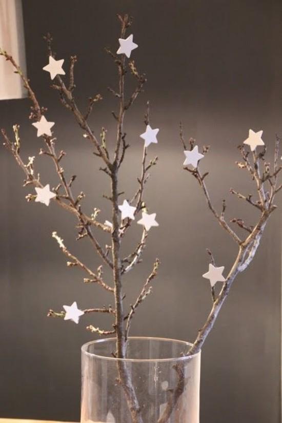 baumzweige sterne skandinavische weihnachtsdeko