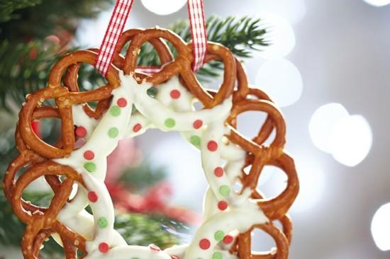 brezel weihnachtskranz selber machen