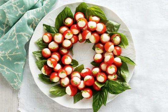 cherry tomaten weihnachtskranz selber machen