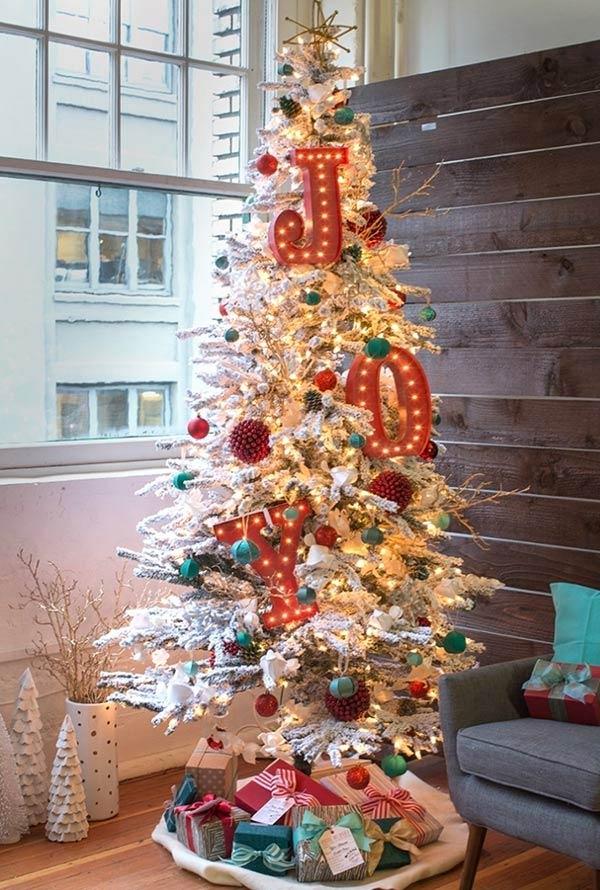 christbaumschmuck in einer stadtwohnung