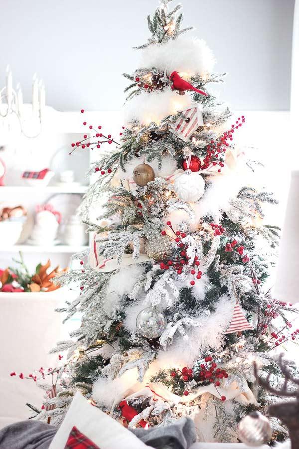 christbaumschmuck mit echt romantischer deko