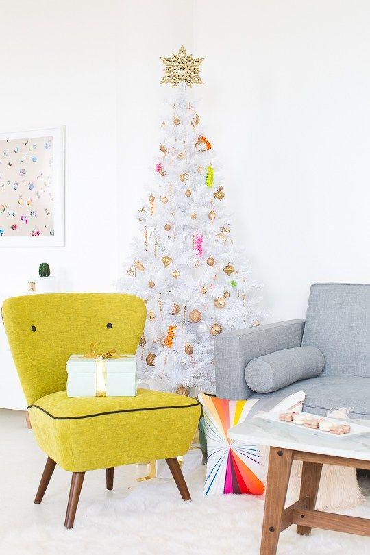 christbaumschmuck sofa in gelb