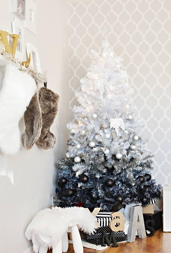 christbaumschmuck tolle blaus und weiß