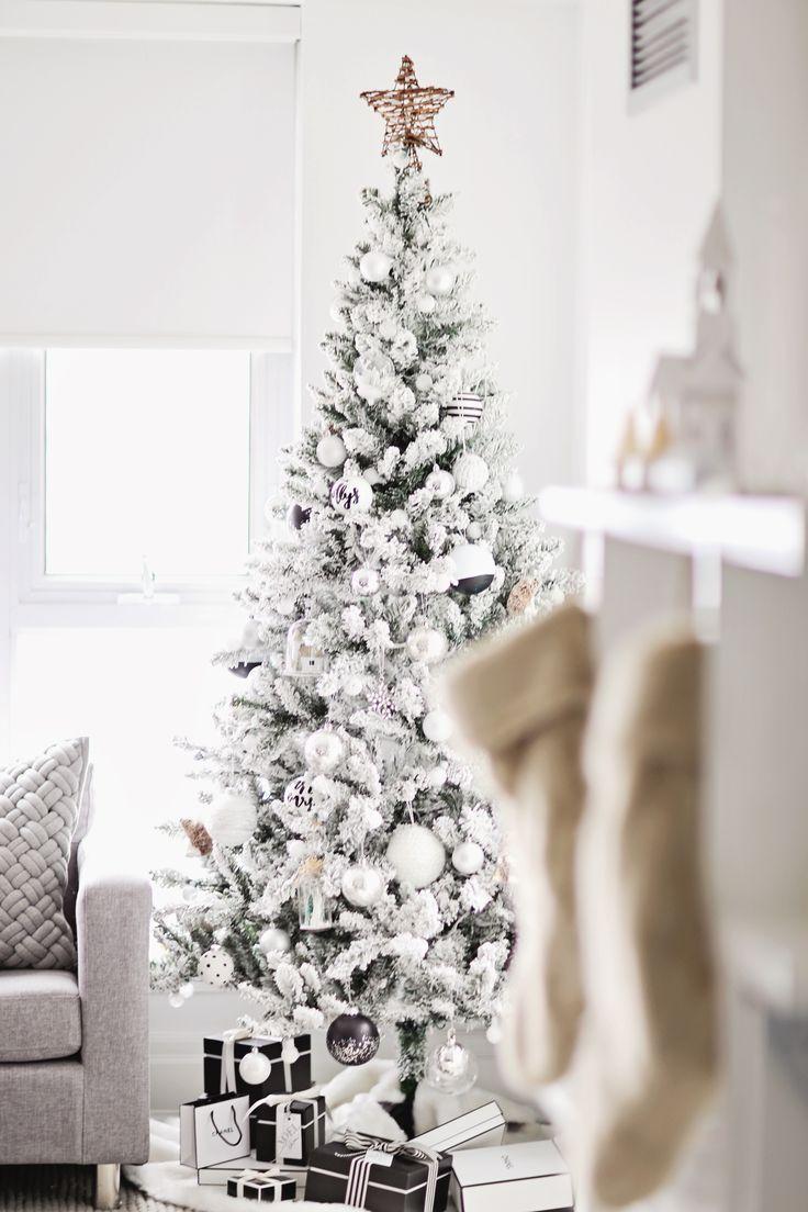 christbaumschmuck weiß und minimalistisch