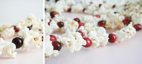cranberries popcorn girlande basteln