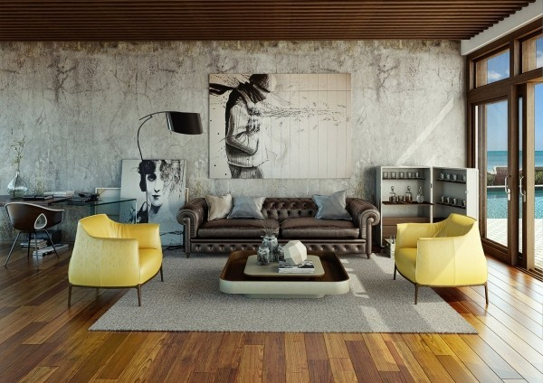 deko ideen designer sitzplätze in gelb