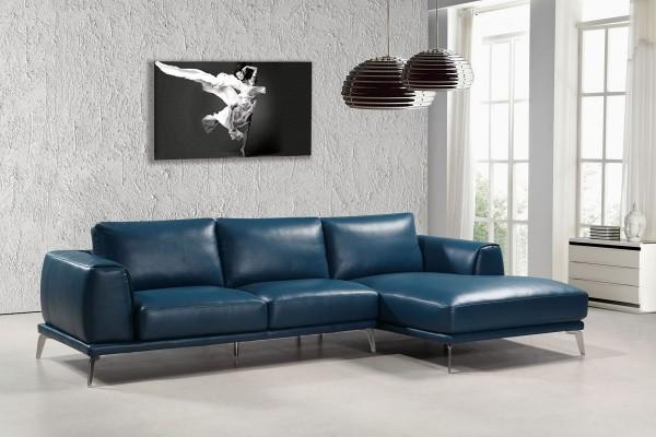 deko ideen kunst leder in schwarz und blau