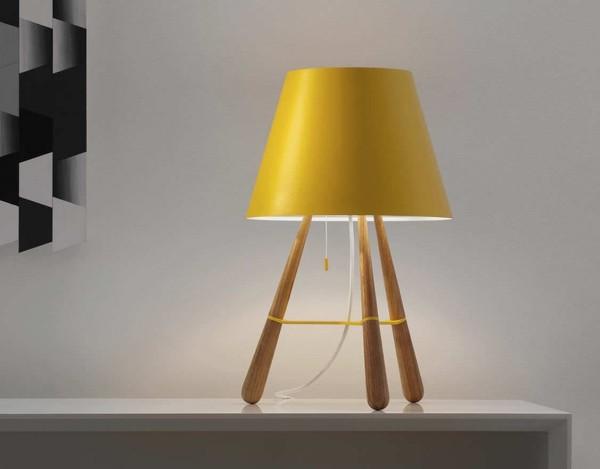 deko ideen lampenschirm als gelber akzent