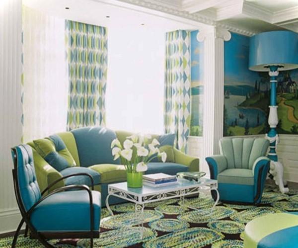 deko ideen rundes sofa