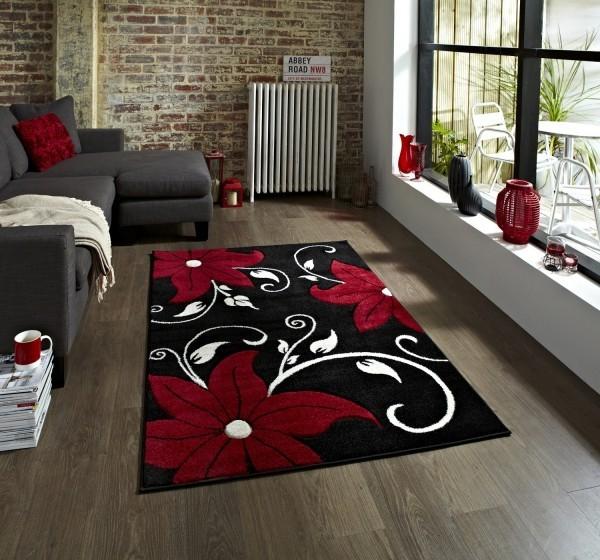 deko ideen schwarz roter teppich