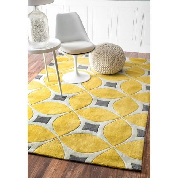 deko ideen teppich mit geometrischen mustern