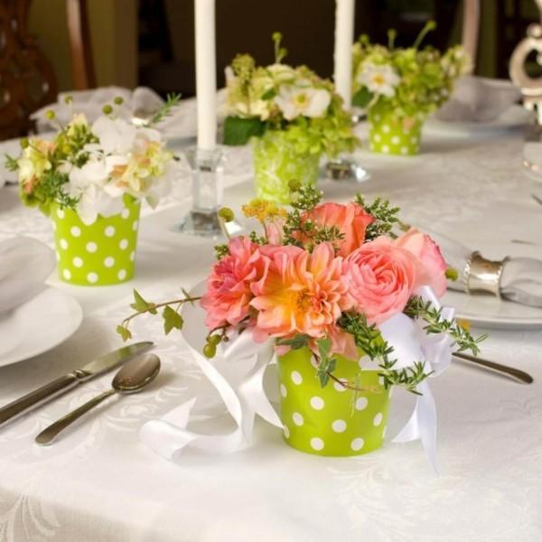 deko ideen vasen für den tisch