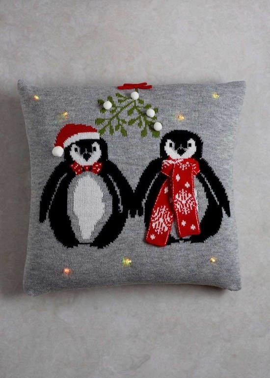 dekokissen süße pinguine
