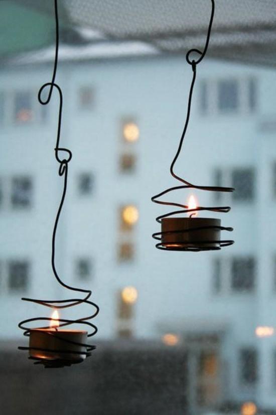 draht windlichter basteln