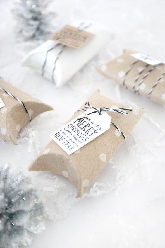 edel verpackte geschenke schmuck basteln