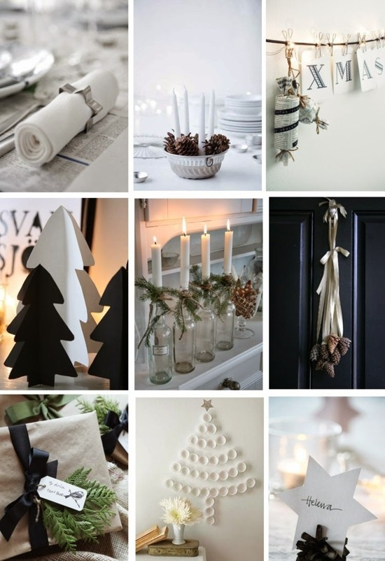 einfache ideen skandinavische weihnachtsdeko