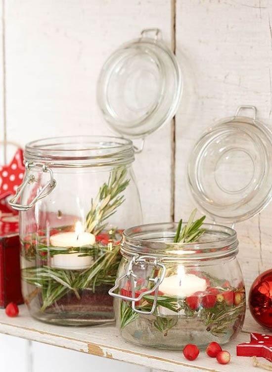 einfache skandinavische weihnachtsdeko windlichter basteln