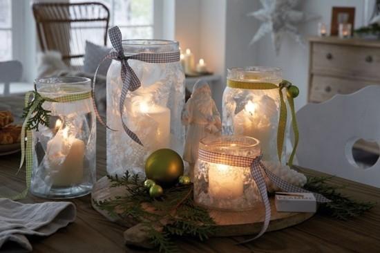 einfache windlichter basteln zu weihnachten