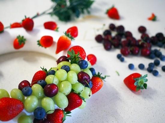 Frucht Weihnachtskranz selber machen