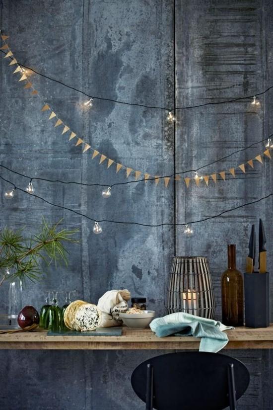 filigrane girlande skandinavische weihnachtsdeko