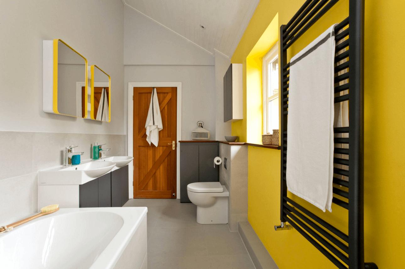gelbe und schwarze farben trendfarben