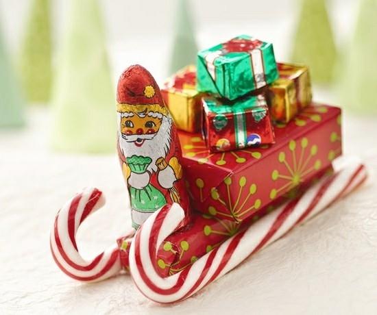 geschenkidee weihnachten zuckerstangen deko