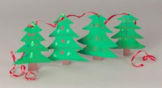 girlande basteln mit kindern zu weihnachten