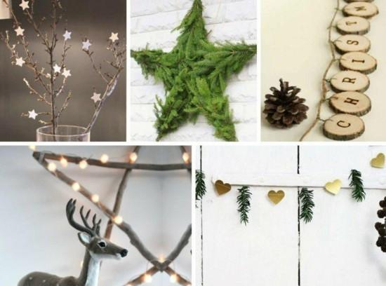 girlande basteln weihnachtsdeko ideen