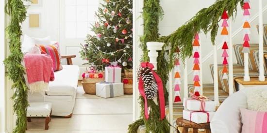 girlande basteln weihnachtsdeko selber machen
