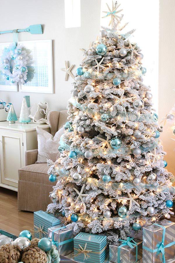 gold und blau christbaumschmuck tolle idee