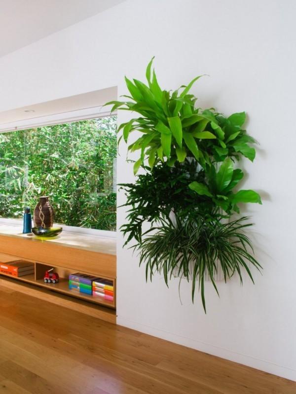 grüne wandgestaltung deko ideen
