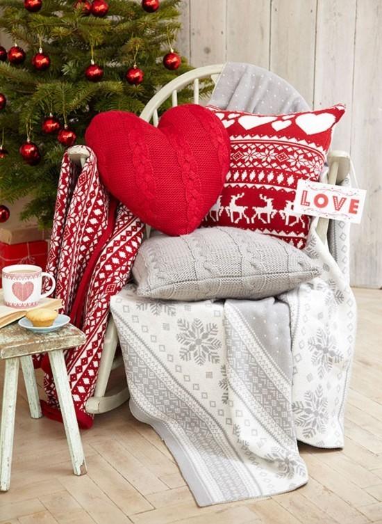 häkel deko kissen skandinavische weihnachtsdeko